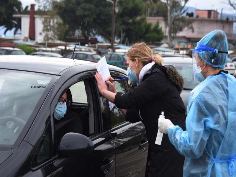 Λιβαδειά:Διενέργεια drive through rapid τεστ για τον κορονοϊό την Δευτέρα
