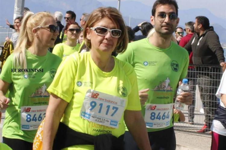 Στη φωτογραφία η Κωνσταντίνα Αναστασίου-Σμυρναίου στο 4ο Μαραθώνιο Ναυπλίου