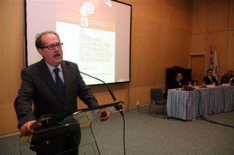ο Κουκουλόπουλος στην ημερίδα της ΠΕΔ για τα σκουπίδια