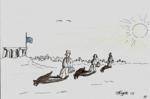 το σκίτσο του Θ.Κουγιά