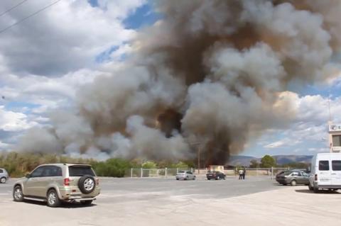 ArgolidaPortal.gr Ναύπλιο-Πυρκαγιά στην παραλιακή οδό Ναυπλίου - Νέας Κίου