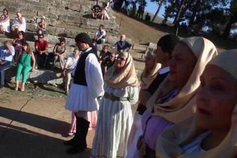 ArgolidaPortal.gr Εγκαινιάστηκαν τα «Μονοπάτια Πολιτισμού» στην Επίδαυρο από την Κονιόρδου