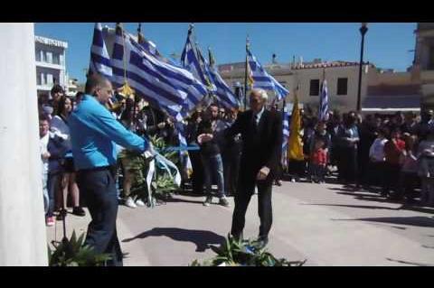 ArgolidaPortal.gr ΑΡΓΟΣ-Κατάθεση στεφάνων για την 25η Μαρτίου από μαθητές