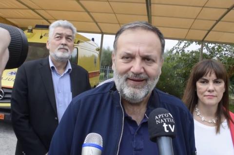 ArgolidaPortal.gr Αργολίδα- Χειβιδόπουλος στέγαστρο για τα ασθενοφόρα του ΕΚΑΒ