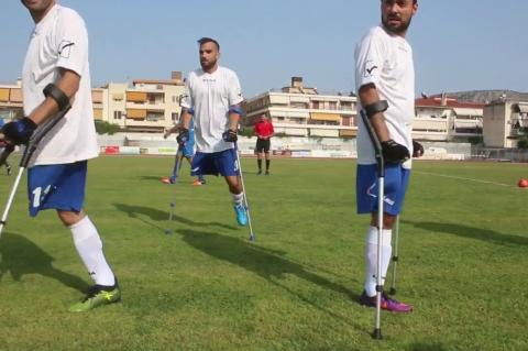 ArgolidaPortal.gr Ναύπλιο- Αγώνας Εθνική ΟμάδαςΑκρωτηριασμένων με Διεθνείς Παλαιμάχους