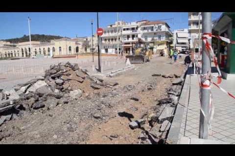 ArgolidaPortal.gr Άργος:Κλειστή η Φείδωνος έργα ανάπλασης