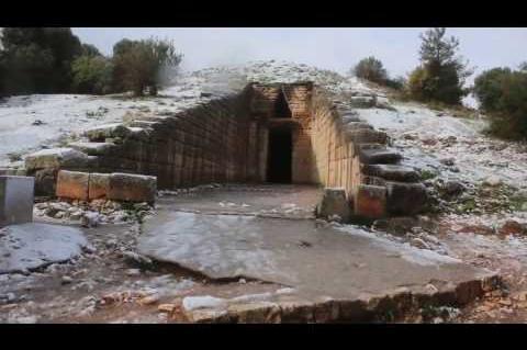 ArgolidaPortal.gr Χιόνια στην Αργολίδα:Μυκήνες και κάστρο Άργους στα λευκά