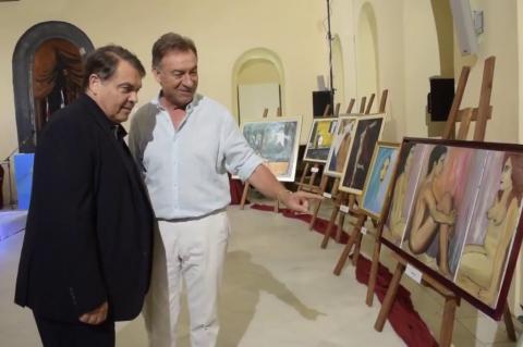 ArgolidaPortal.gr ο δήμαρχος Δ. Καμπόσος στην έκθεση του Κωνσταντίνου Δημούλη στο Ναύπλιο