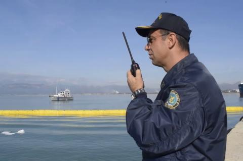 ArgolidaPortal.gr Ναύπλιο - Άσκηση για θαλάσσια ρύπανση στο λιμάνι