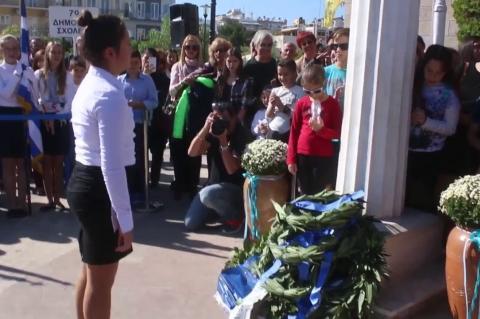 ArgolidaPortal.gr Άργος- Κατάθεση στεφάνων για την 28η Οκτωβρίου από μαθητές 27102017