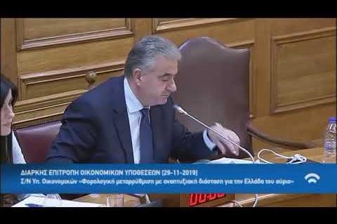 Διαρκής Επιτροπή Οικονομικών, Γιάννης Γκιόλας 29-11-2019